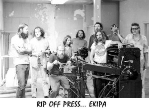 Die Crew der Rip Off Press