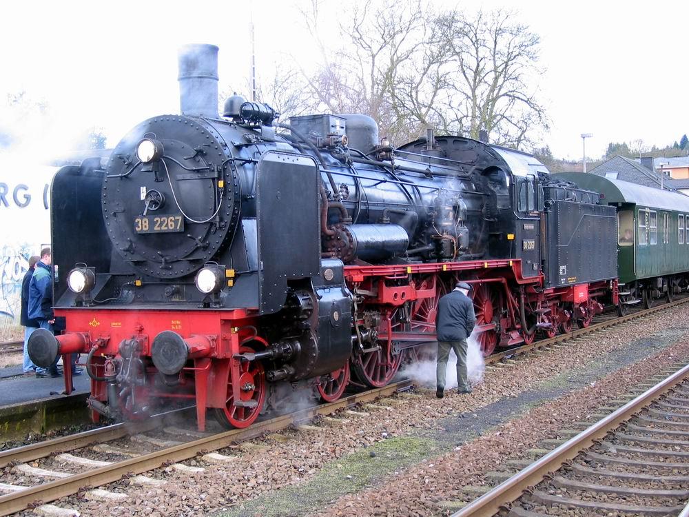 Dampflok - preußische P8; gehört zum Eisenbahnmuseum Bochum-Dahlhausen Foto: Bernd Untiedt
